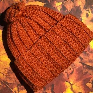 Lady's fall beanie hat